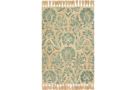 93X117 Rug-Magnolia Home Jozie Day Aqua By Joanna Gaines