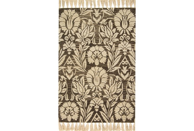 60X90 Rug-Magnolia Home Jozie Day Charcoal By Joanna Gaines - 360