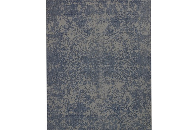 93X117 Rug-Magnolia Home Lily Park Blue By Joanna Gaines - 360