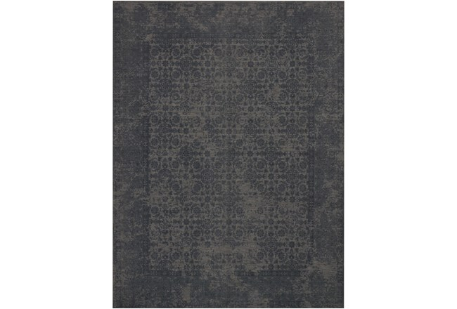 93X117 Rug-Magnolia Home Lily Park Charcoal By Joanna Gaines - 360
