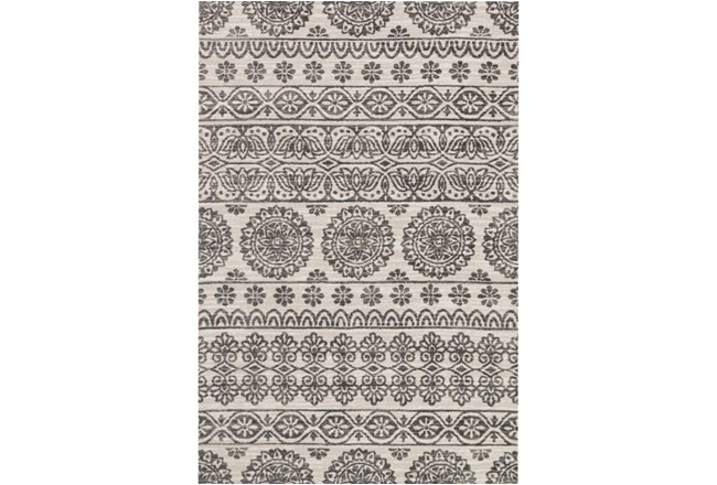 60X90 Rug-Magnolia Home Lotus Antique Ivory/Mink By Joanna Gaines - 360