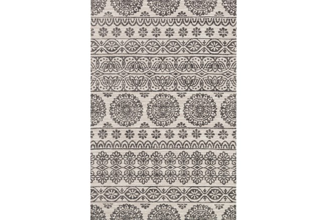 93X117 Rug-Magnolia Home Lotus Antique Ivory/Mink By Joanna Gaines - 360