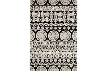 60X90 Rug-Magnolia Home Lotus Black/Silver By Joanna Gaines