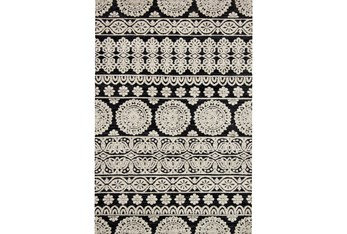 """7'8""""x9'8"""" Rug-Magnolia Home Lotus Black/Silver By Joanna Gaines"""