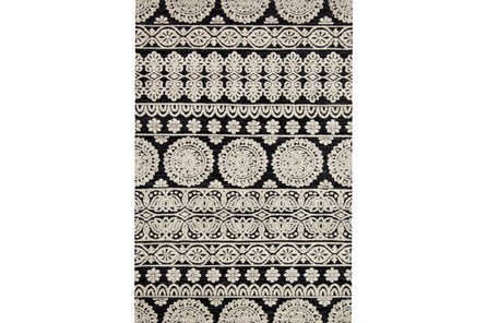93X117 Rug-Magnolia Home Lotus Black/Silver By Joanna Gaines - Main