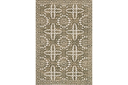 60X90 Rug-Magnolia Home Lotus Antique Ivory/Olive By Joanna Gaines