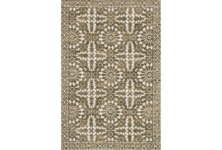 93X117 Rug-Magnolia Home Lotus Antique Ivory/Olive By Joanna Gaines
