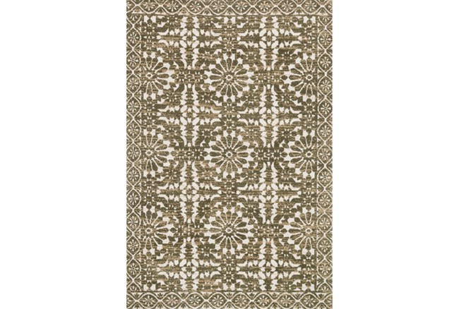 93X117 Rug-Magnolia Home Lotus Antique Ivory/Olive By Joanna Gaines - 360
