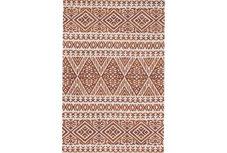 60X90 Rug-Magnolia Home Lotus Antique Ivory/Rust By Joanna Gaines