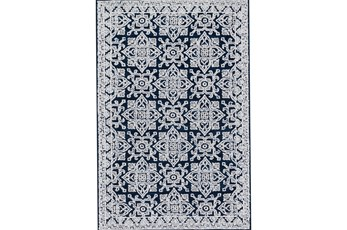 60X90 Rug-Magnolia Home Lotus Midnight/Silver By Joanna Gaines