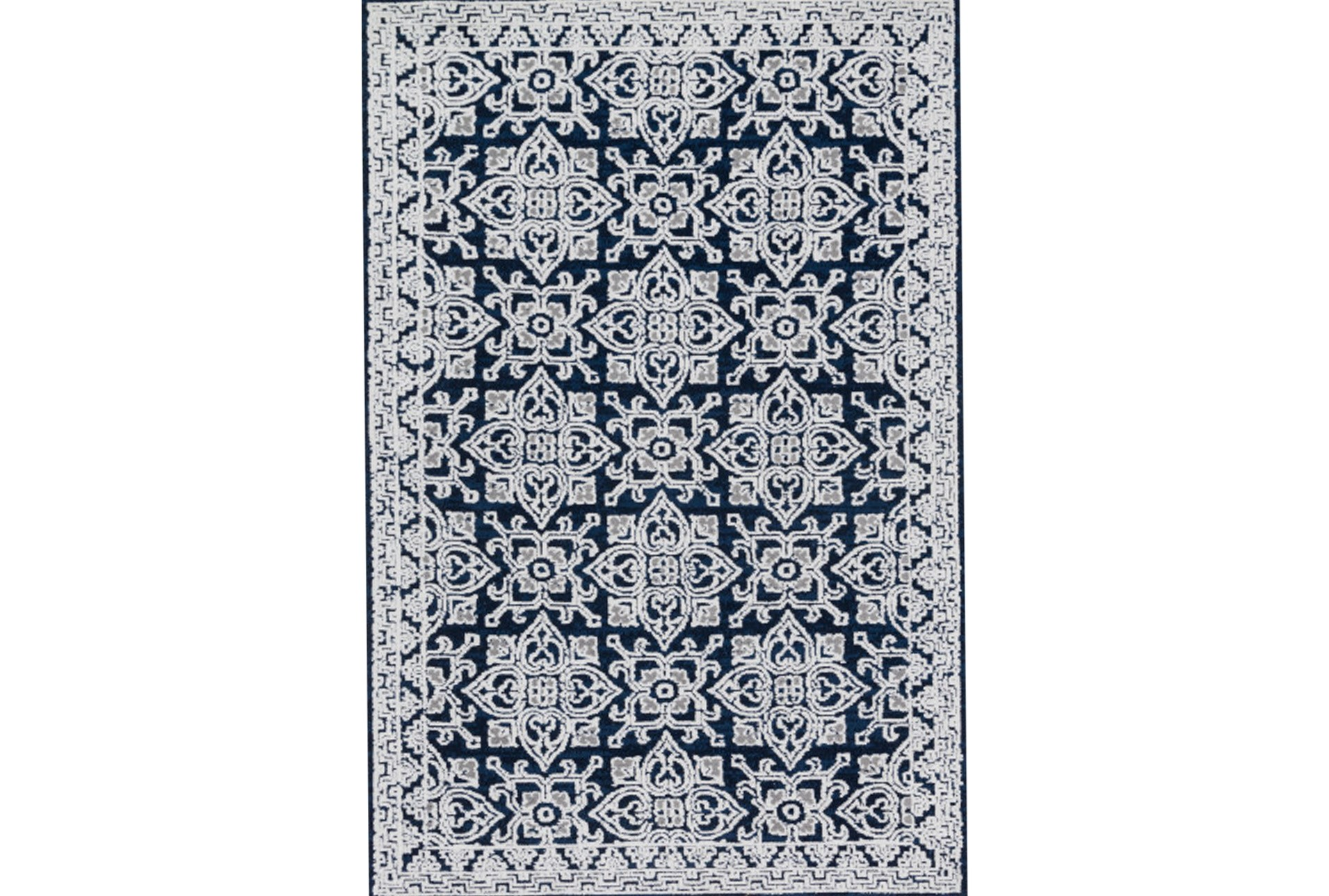 93x117 Rug Magnolia Home Lotus Midnight Silver By Joanna Gaines