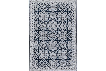 """7'8""""x9'8"""" Rug-Magnolia Home Lotus Midnight/Silver By Joanna Gaines"""