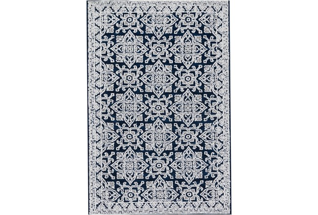 93X117 Rug-Magnolia Home Lotus Midnight/Silver By Joanna Gaines - 360