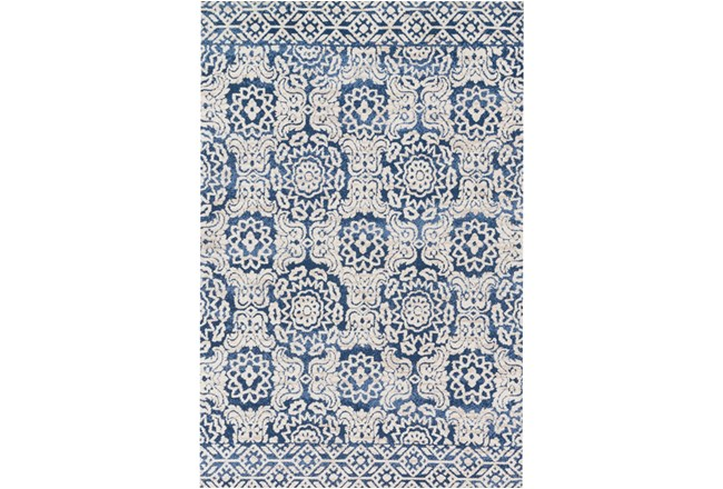 60X90 Rug-Magnolia Home Lotus Blue/Antique Ivory By Joanna Gaines - 360