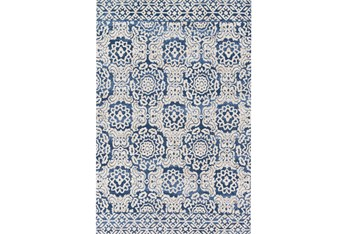 """7'8""""x9'8"""" Rug-Magnolia Home Lotus Blue/Antique Ivory By Joanna Gaines"""