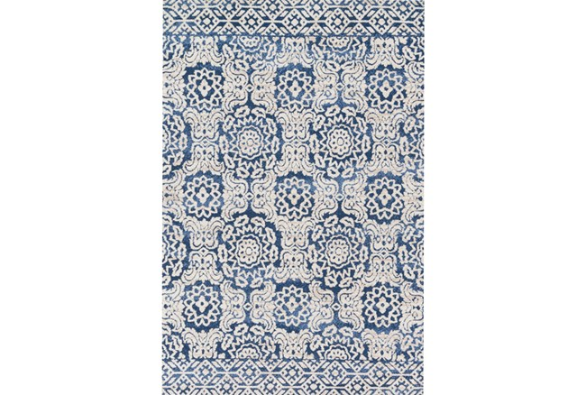 """7'8""""x9'8"""" Rug-Magnolia Home Lotus Blue/Antique Ivory By Joanna Gaines - 360"""