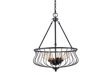 Pendant-Zain Dark Bronze 4 Light
