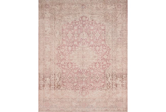93X117 Rug-Magnolia Home Lucca Terracotta/Ivory By Joanna Gaines - 360