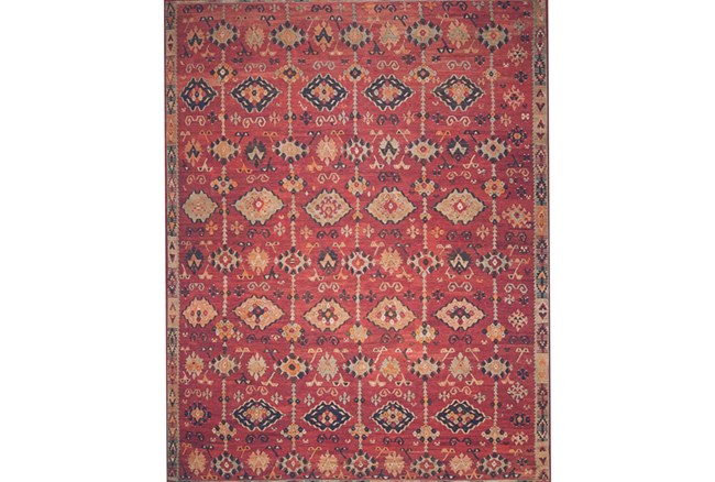93X117 Rug-Magnolia Home Lucca Brick/Multi By Joanna Gaines - 360