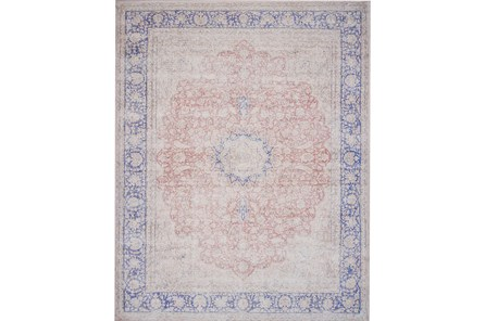 93X117 Rug-Magnolia Home Lucca Terracotta/Blue By Joanna Gaines