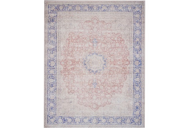 93x117 Rug Magnolia Home Lucca Terracotta Blue By Joanna