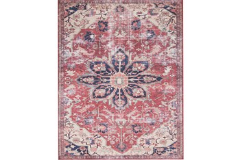 """7'8""""x9'8"""" Rug-Magnolia Home Lucca Rust/Ivory By Joanna Gaines"""
