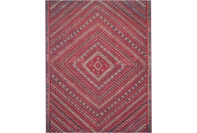 93X117 Rug-Magnolia Home Lucca Red/Multi By Joanna Gaines - 360