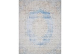 """7'8""""x9'8"""" Rug-Magnolia Home Lucca Lt Blue/Sand By Joanna Gaines"""