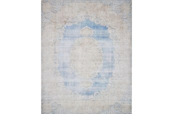 93X117 Rug-Magnolia Home Lucca Lt Blue/Sand By Joanna Gaines