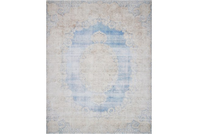 93X117 Rug-Magnolia Home Lucca Lt Blue/Sand By Joanna Gaines - 360