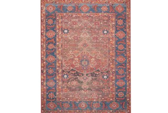 """5'x7'5"""" Rug-Magnolia Home Lucca Rust/Blue By Joanna Gaines"""