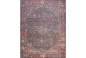 """5'x7'5"""" Rug-Magnolia Home Lucca Navy Red By Joanna Gaines"""