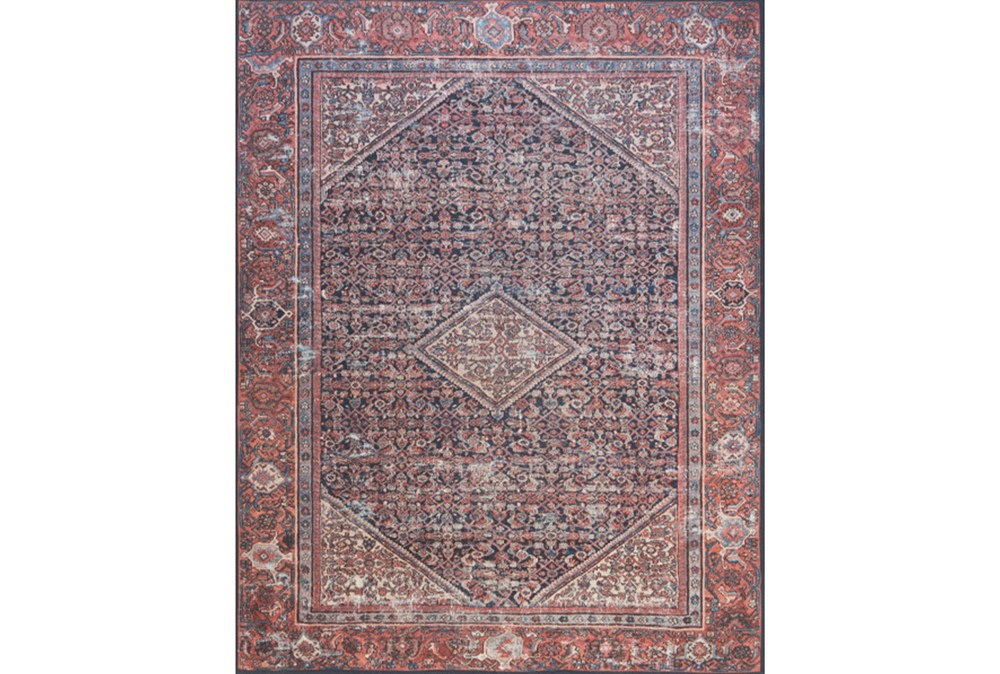 """7'8""""x9'8"""" Rug-Magnolia Home Lucca Navy/Red By Joanna Gaines"""