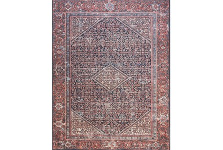 93X117 RUG-MAGNOLIA HOME LUCCA NAVY/RED BJG