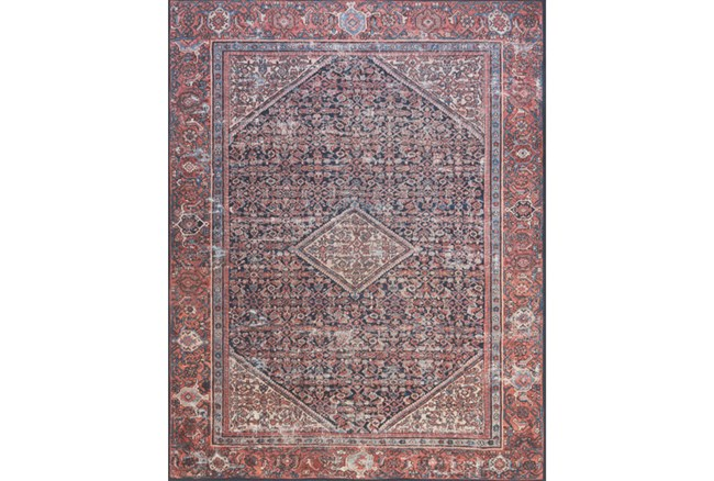 """7'8""""x9'8"""" Rug-Magnolia Home Lucca Navy/Red By Joanna Gaines - 360"""