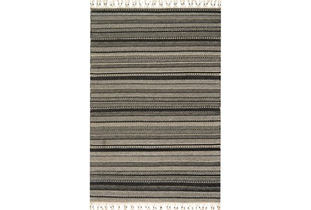 93X117 Rug-Magnolia Home Mikey Black/Ivory By Joanna Gaines