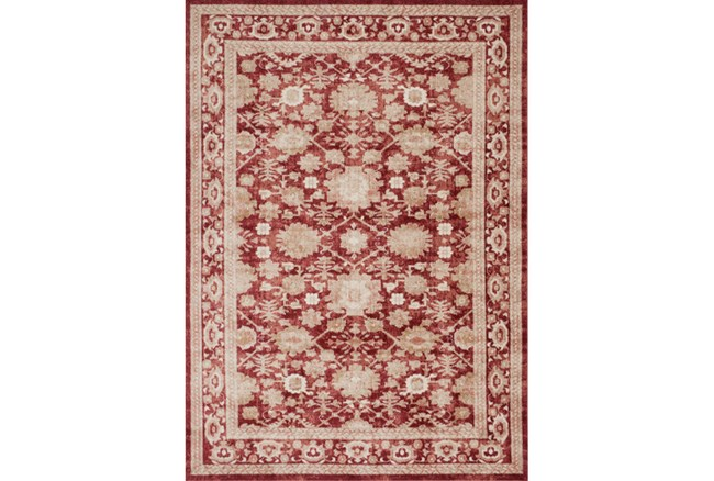 63X90 Rug-Magnolia Home Trinity Crimson By Joanna Gaines - 360