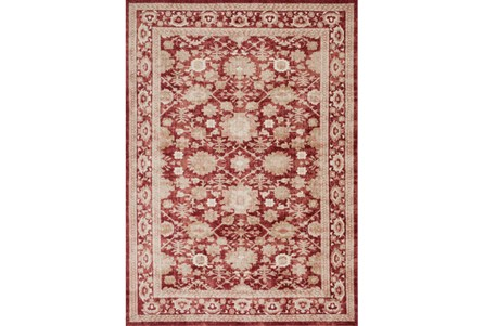 94X130 Rug-Magnolia Home Trinity Crimson By Joanna Gaines