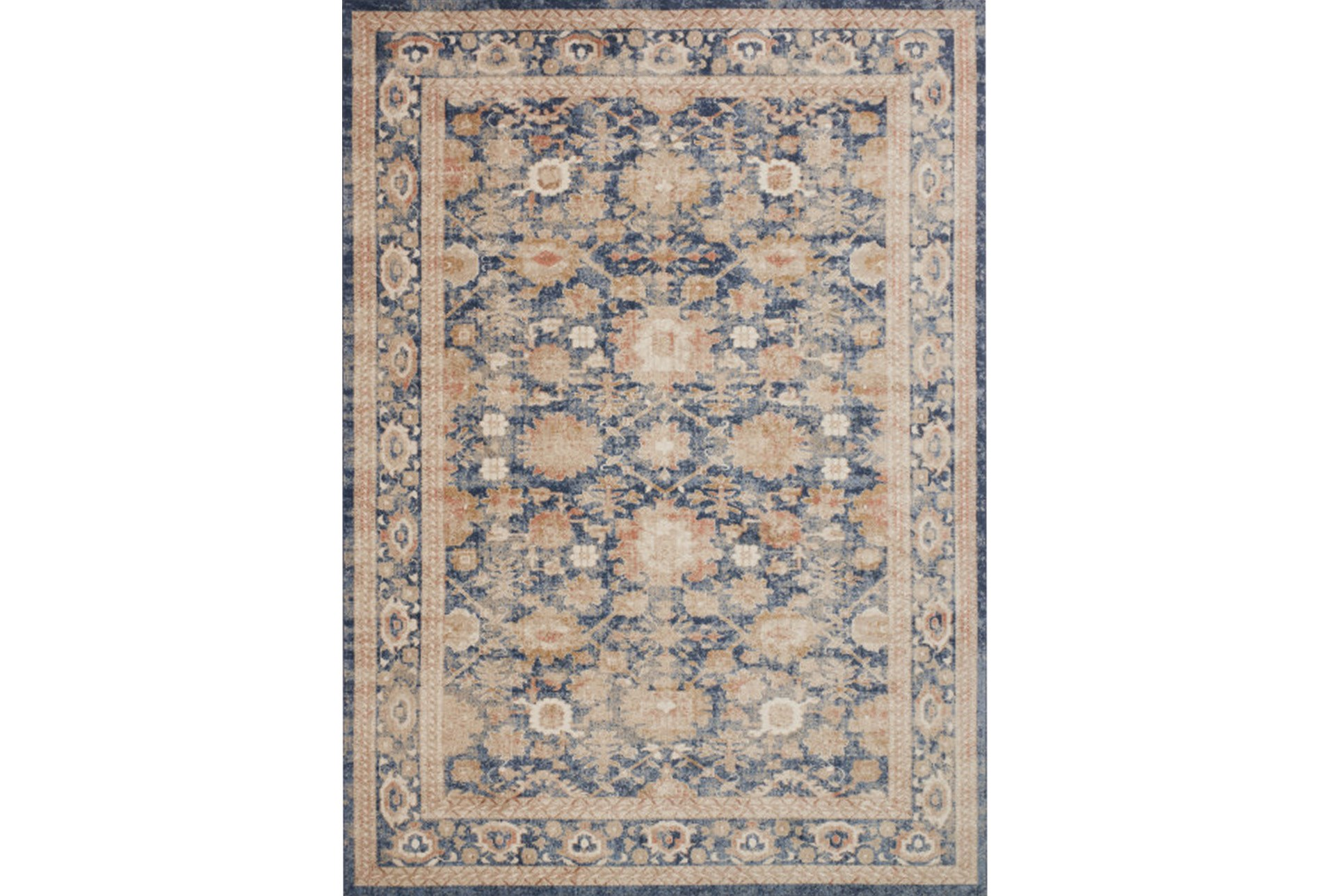 94x130 Rug Magnolia Home Trinity Navy By Joanna Gaines Living Spaces