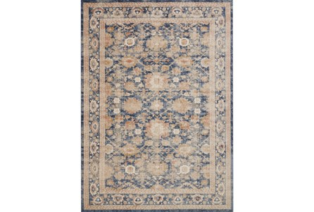 94X130 Rug-Magnolia Home Trinity Navy By Joanna Gaines