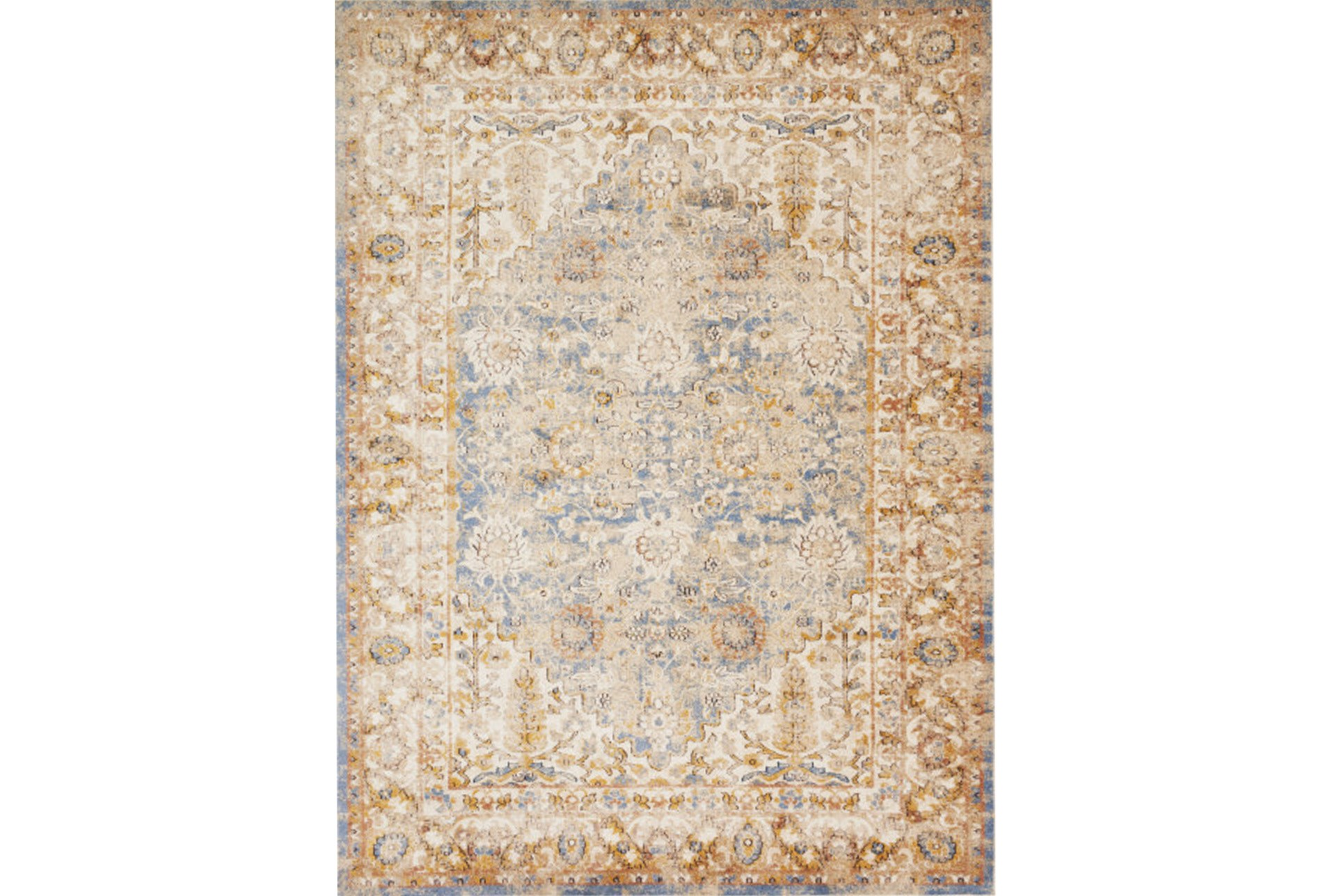 94x130 Rug Magnolia Home Trinity Blue Multi By Joanna Gaines