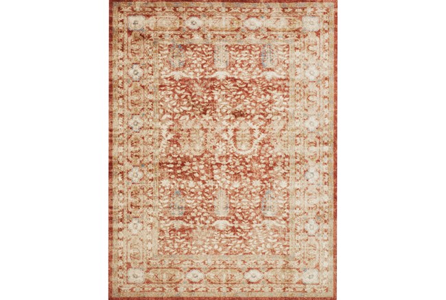 94X130 Rug-Magnolia Home Trinity Terracotta By Joanna Gaines