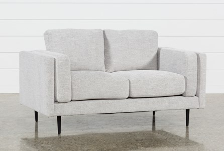 Aquarius Light Grey Loveseat