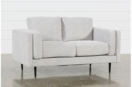 Aquarius Light Grey Loveseat - Main