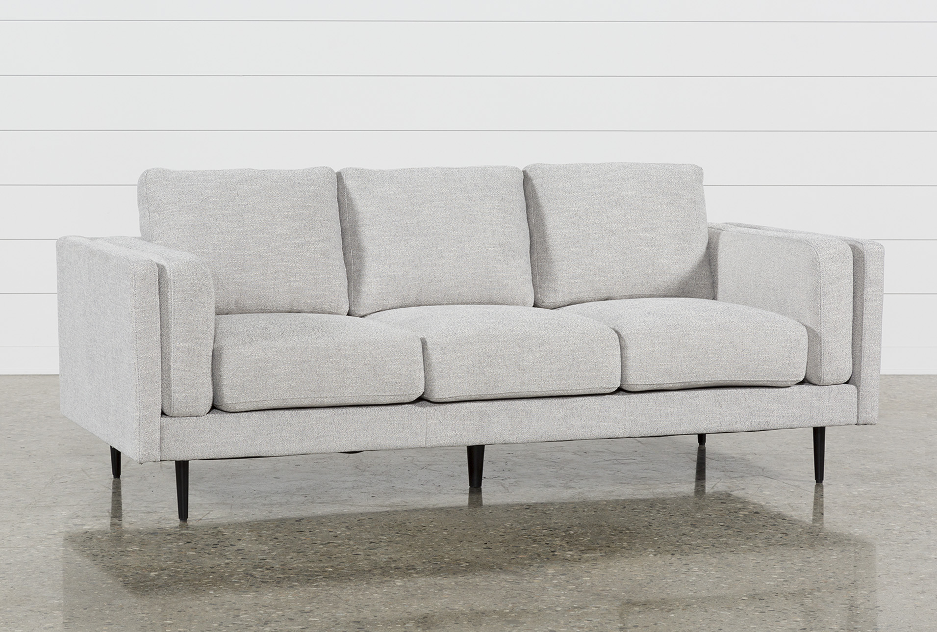 aquarius light grey sofa living spaces rh livingspaces com light gray sofas for sale light gray sofas for sale