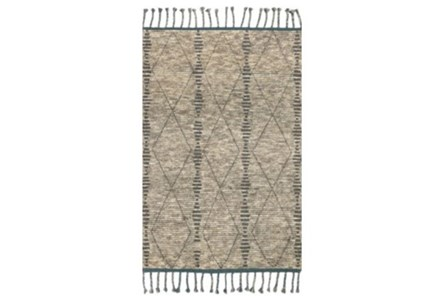 93X117 Rug-Magnolia Home Tulum Stone/Blue By Joanna Gaines