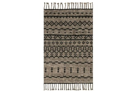 93X117 Rug-Magnolia Home Tulum Graphite/Black By Joanna Gaines