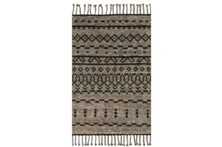 93X117 Rug-Magnolia Home Tulum Graphite/Black By Joanna Gaines - Main