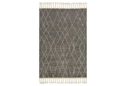 93X117 Rug-Magnolia Home Tulum Grey/Ivory By Joanna Gaines