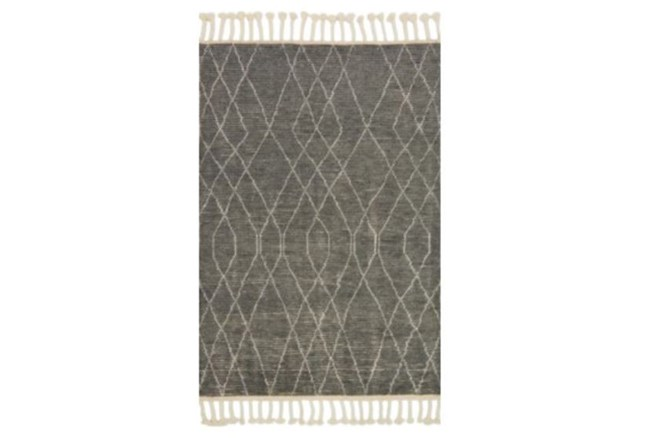 93X117 Rug-Magnolia Home Tulum Grey/Ivory By Joanna Gaines - 360